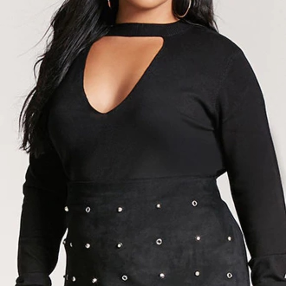 Forever 21 Sweaters Plus Size Vcutout Knit Sweater 2x Poshmark